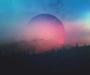 moon, hipster, and landscape image