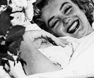 black and white, Marilyn Monroe, and smile image