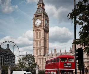 Big Ben, big city, and clouds image