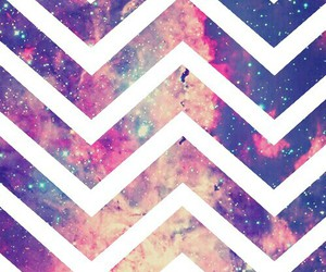 wallpaper, chevron, and galaxy image