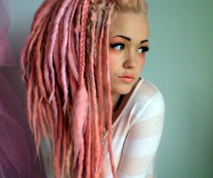 pink, dreads, and pretty image
