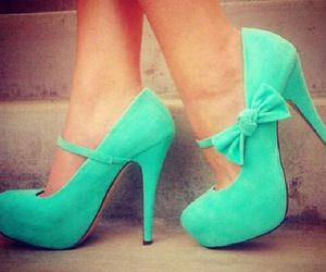 heels, mint, and shoes image