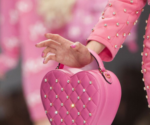 pink, Moschino, and bag image