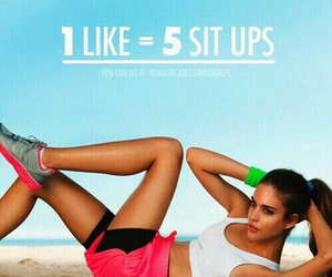 sit ups, workout, and fitness image