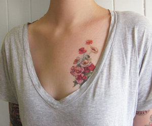 tattoo, flowers, and vintage image
