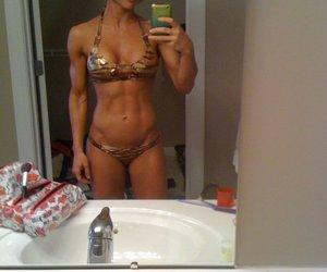 bathing suit, fitness, and zebra image