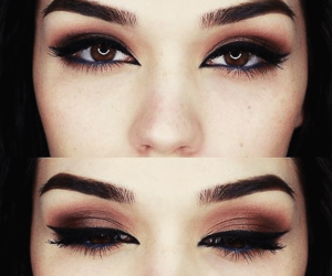 brown eyes, make up, and maquillaje image