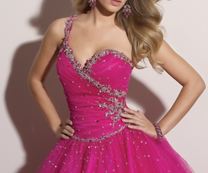 dress, pink, and a-line image