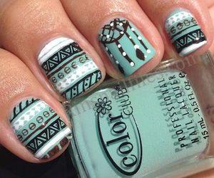 nails, nail art, and green image