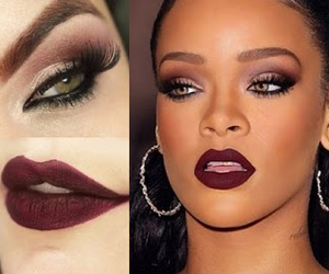 brown, goth, and makeup image