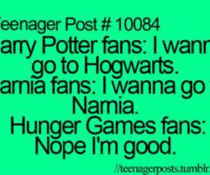 narnia, harry potter, and hunger games image