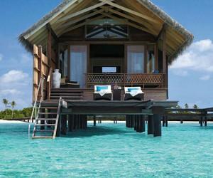 house, beach, and sea image