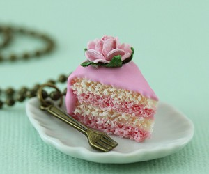 cake, pink, and rainbow image