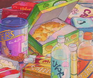 anime and food image