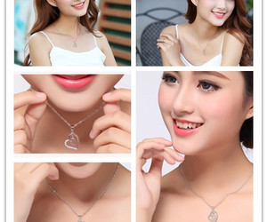 necklace, heart pendant, and fashion jewelry image