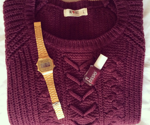 casio, sweater, and weheartit image
