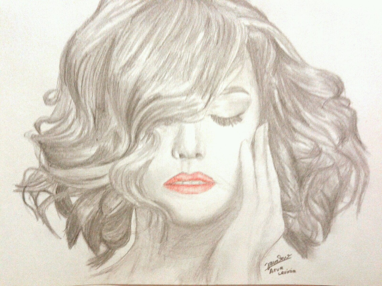 Girl With Short Hair Drawing By Me I Love Curly Hair