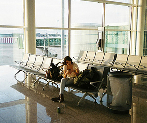airport, indie, and travel image
