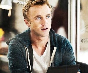 tom felton, book, and harry potter image