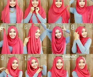 hijab, simple, and hijabers image
