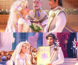 disney, tangled, and rapunzel and flynn image