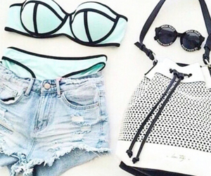 beach, outfit, and style image