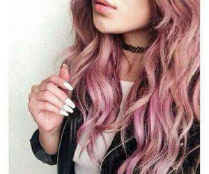 hair, pink, and sweet image