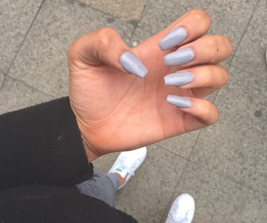 nails, style, and grey image
