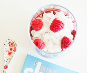 berries, coconut, and food image