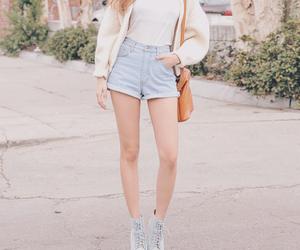 fashion, kfashion, and shorts image