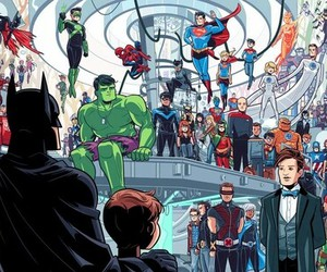 batman, doctor who, and Marvel image