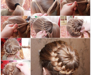 diy, hairstyle, and hair image