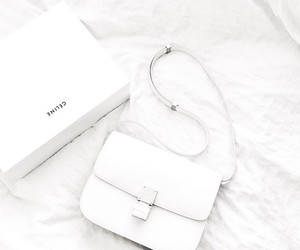 white, bag, and celine image