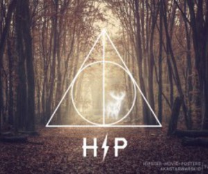 harry potter, hp, and deathly hallows image