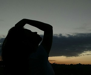 black, photography, and silhouette image