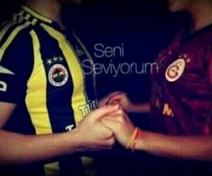galatasaray, fenerbahce, and love image
