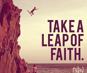 take a leap of faith image