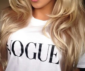 hair, vogue, and blonde image