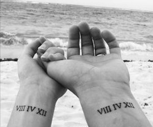 matching, numerals, and Tattoos image