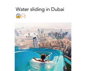 Dubai, sliding, and summer image