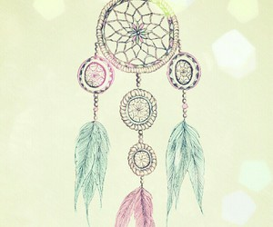 dreamcatcher, blue, and overlay image