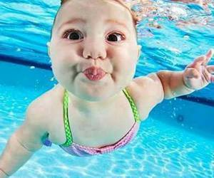 baby, cute, and water image