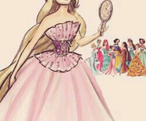princess, disney, and rapunzel image