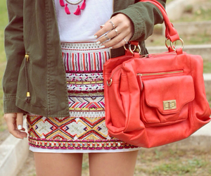 bag, blogger, and coral image