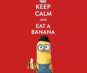 minions, banana, and keep calm image