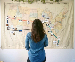 america, map, and travel image