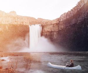 boating, explore, and waterfalls image