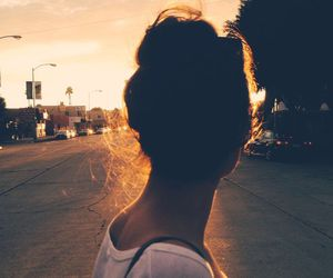 girl, sunset, and hipster image