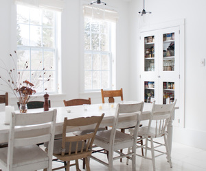 chairs, decor, and dining room image