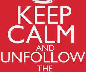 keep calm, red, and typography image